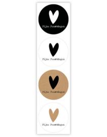 Sticker sluitzegel mix  fijne feestdagen hart | 35mm | 12 stk