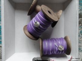 Veloursband / lila op klos / 5m