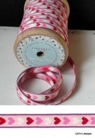 Band/  Holly pink hartjes / Aspegren Denmark