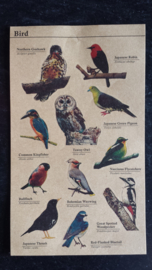 Kraft stickers vogels / birds