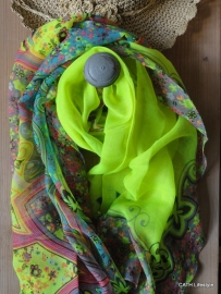 Sjaal | Zomerse  yellow