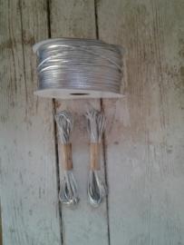 Draad - koord zilver / 5m