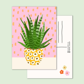 Ansichtkaart -  plant in pot