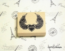 Stempel /  vleugels - wings LOVE