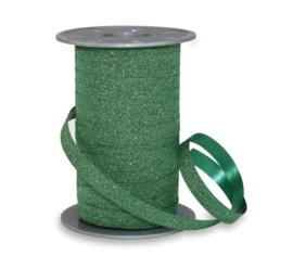 Krullint - glitter | groen | 10mm | 5m