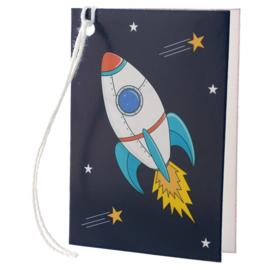 Cadeaukaartje / ruimtevaart