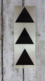 Stickers / Piramide zwart / 20stk