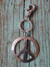 Sleutel- Tashanger / Peace Teken