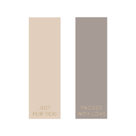 Sticker duo label beige/taupe | 10stk