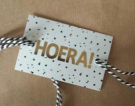 Cadeaulabel / Hoera / pstk