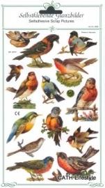 ME 8087 Poezie plaatjes stickers / vogels