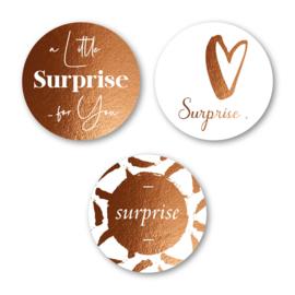 Sticker sluitzegel mix goud folie - Surprice | 12 stk