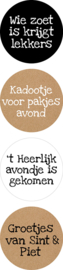 Sticker sluitzegel mix - Sinterklaas | 35mm | 12stk