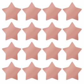 Sticker / sterren / brons pink / 16 stk