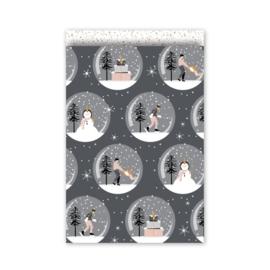 Kado zakjes Magical Christmas | 17 x 25 cm | 5stk