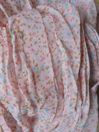 Sjaaltje | roze bloemetjes