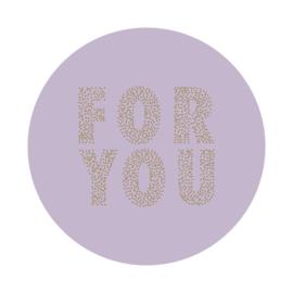 Sticker sluitzegel - rond lila | FOR YOU | 55mm | 9stk