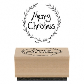 "Stempel / rond ""Merry Christmas"" / EI 3667"