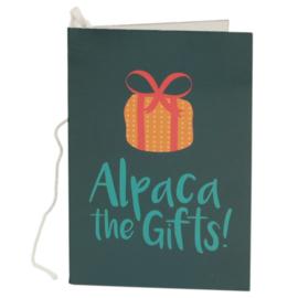 Cadeaukaartje / alpaca
