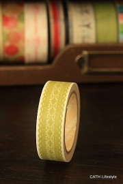 Washi Masking tape  / lime lace