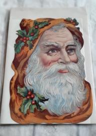 Wenskaart - Kerstman  nostaglie