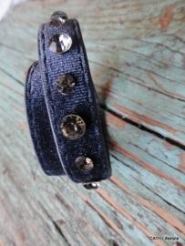 BIBA Armband / Bluegrey met Swarovski steentjes