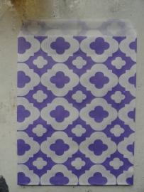 LI Vlakke zakjes flower purple