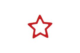 Decoratieve houten ster   rood   5stk