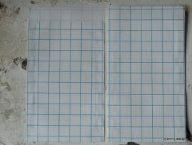 Vlakzakjes -  grit blokpatroon / 5 stk