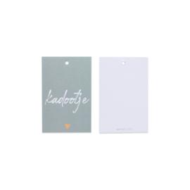 Cadeau kaartje /label - Kadootje | mint