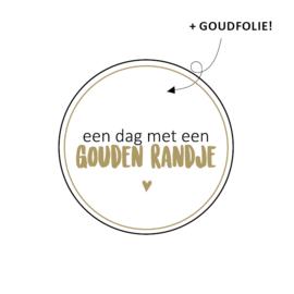 Sticker / een dag met een gouden randje / 15stk