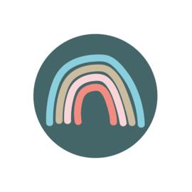 Stickers sluitzegels | regenboog - rainbow groen - 15 stk