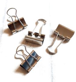 Foldback klem  / zilver   / 2cm / pstk
