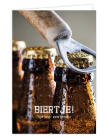 Wenskaart met kraft envelop - Biertje! tijd voor een feestje | proost