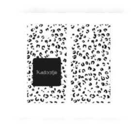 Kado label kaartje  / kadootje tijger / 5 stk