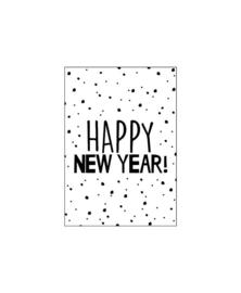 Mini - kaartje   Happy New Year
