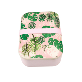 Bamboe lunchtrommel - lunchbox / Tropical palm