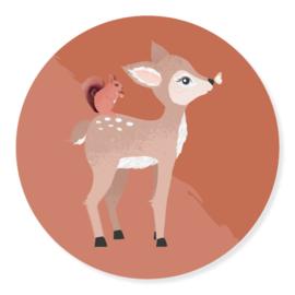 Sticker - Hert | 50mm | 10stk