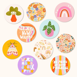 Stickers mix set - Muchable II - 3cm | 10stk