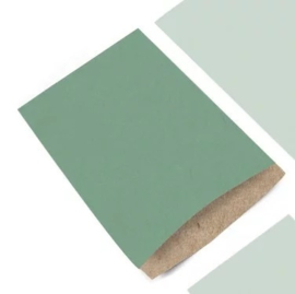 Zakjes | kraft | recycle | groen | 5 stk
