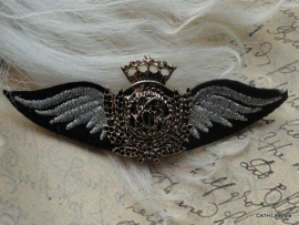 Broche  / wings - crown