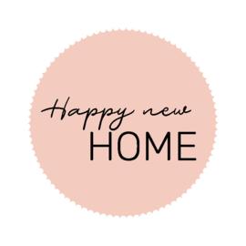 Stickers - roze - Happy new Home - 15 stk