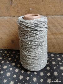 """Katoenkoord / """"Taupe met zilver lurex draad"""" streng / 10 meter"""