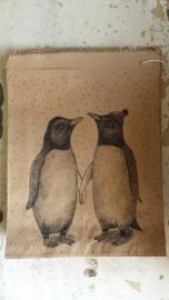 Kraft zak / Pinguïns   / 20,5 x 27cm / 5stk / EI 5056