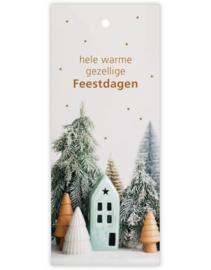 Cadeau kaartje /label - kerst | hele warme gezellige Feestdagen