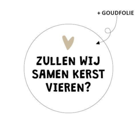 Sticker sluitzegel - kerst   Zullen we samen kerst vieren?   40mm   20stk