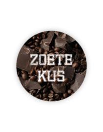 Sticker rond - Zoete Kus - choco | 35mm | 10stk