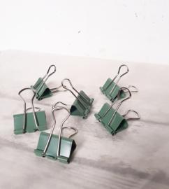 Foldback klem | green | 25mm | pstk