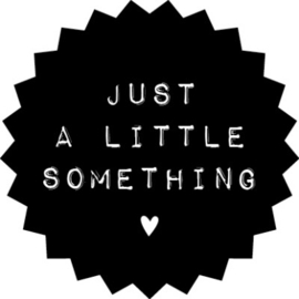 Sticker sluitzegel zwart - just a little something | 10stuks