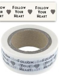 Paper masking - washi tape / Follow your Heart / 10m
